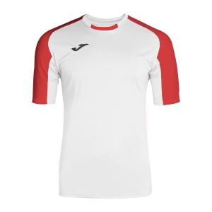 Tennis Polo and Shirts Joma Boy Essential TShirt  White/Red 101105.206