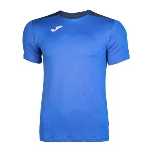 Tennis Polo and Shirts Joma Boy Spike TShirt  Blue/Navy 100474.703