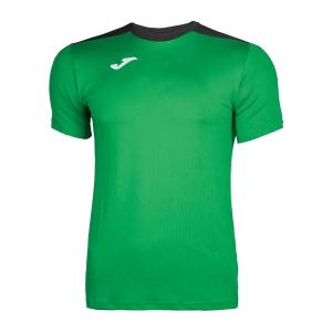Tennis Polo and Shirts Joma Boy Spike TShirt  Green/Black 100474.451
