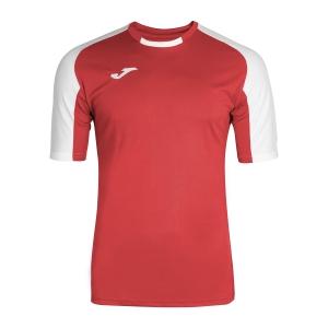 Tennis Polo and Shirts Joma Boy Essential TShirt  Red/White 101105.602