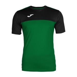 Tennis Polo and Shirts Joma Boy Winner TShirt  Green/Black 100946.401