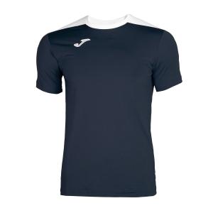 Tennis Polo and Shirts Joma Boy Spike TShirt  Navy/White 100474.332
