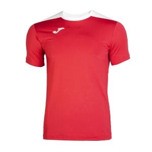 Tennis Polo and Shirts Joma Boy Spike TShirt  Red/White 100474.602