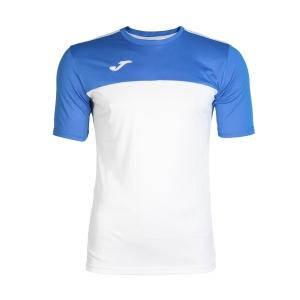 Tennis Polo and Shirts Joma Boy Winner TShirt  White/Blue 100946.207