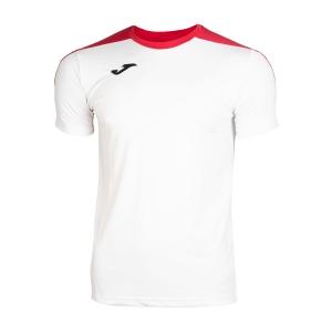 Tennis Polo and Shirts Joma Boy Spike TShirt  White/Red 100474.206