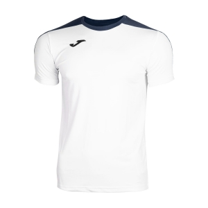 Tennis Polo and Shirts Joma Boy Spike TShirt  White/Navy 100474.203