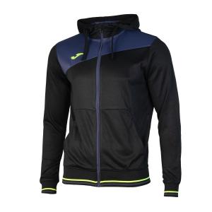 Men's Tennis Shirts and Hoodies Joma Granada Full Zip Hoodie  Black/Navy 100776.103