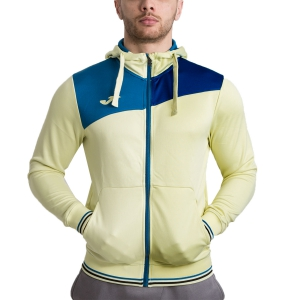 Maglie e Felpe Tennis Uomo Joma Granada Full Zip Hoodie  Light Yellow/ Petrol 100776.907
