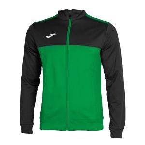 Men's Tennis Jackets Joma Winner Jacket  Green/Black 101008.401