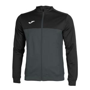 Men's Tennis Jackets Joma Winner Jacket  Dark Grey/Black 101008.151