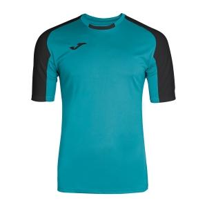 Maglietta Tennis Uomo Joma Essential TShirt  Turquoise/Black 101105.011