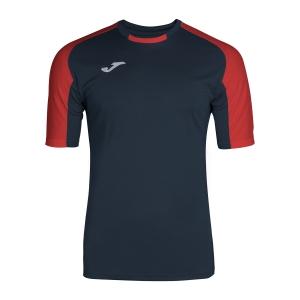 Men's Tennis Shirts Joma Essential TShirt  Navy/Red 101105.306