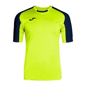 Men's Tennis Shirts Joma Essential TShirt  Volt/Navy 101105.063