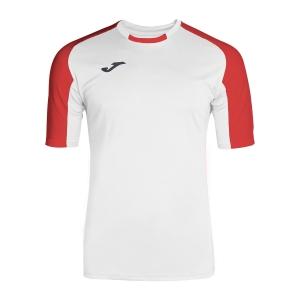 Men's Tennis Shirts Joma Essential TShirt  White/Red 101105.206