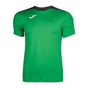 Men's Tennis Shirts Joma Spike TShirt  Green/Black 100474.451