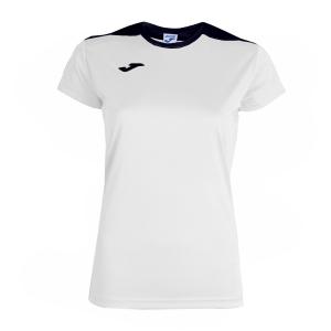 Top and Shirts Girl Joma Girl Spike TShirt  White/Navy 900240.203