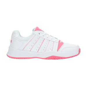 Junior Tennis Shoes KSwiss Junior Court Smash Omni  White/Pink 85629175M