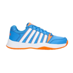 Calzado Tenis Niños KSwiss Junior Court Smash Omni  Blue/Fluo Orange 85629428M