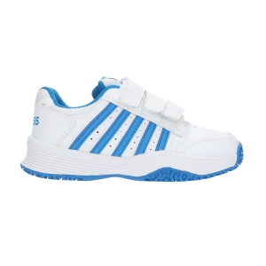 Calzado Tenis Niños KSwiss Junior Court Smash Strap Omni  White/Blue 55627128M