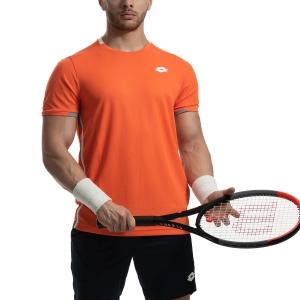 Men's Tennis Shirts Lotto Tennis Teams TShirt  Red Orange 210375513