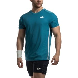 Camisetas de Tenis Hombre Lotto Tennis Teams Camiseta  Mosaic Blue 21037526P