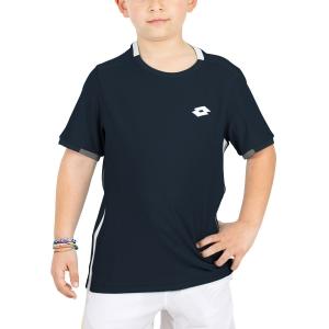 Polo y Camisetas de Tenis Lotto Tennis Teams Camiseta Nino  Navy Blue 2103811CI