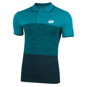 Men's Tennis Polo Lotto Tech Seamless Polo  Turquoise/Dark Green 2103741PR