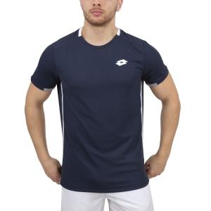 Camisetas de Tenis Hombre Lotto Tennis Teams TShirt  Navy/White 2103751CI