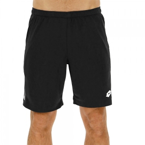 Pantaloncini Tennis Uomo Lotto Tennis Teams 9in Shorts  Black/White 2103781CL