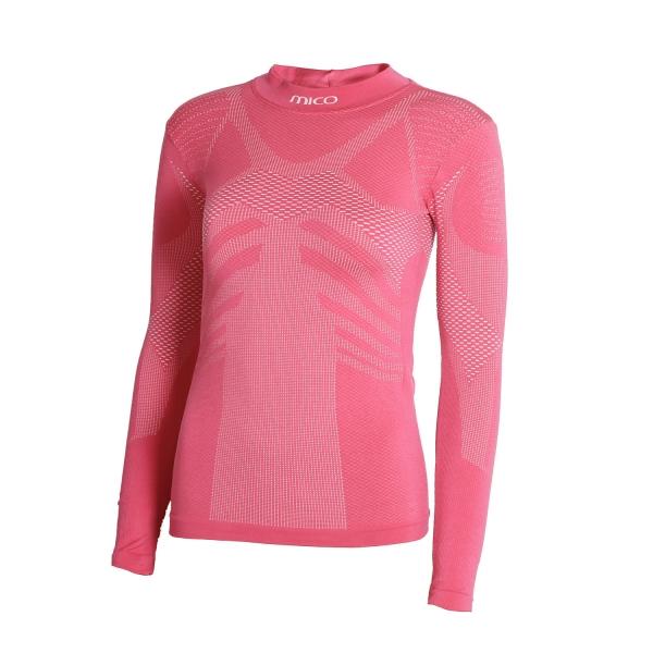 dc9f8e64907f Mico Kids Active Skin Hi-Neck Shirt - Pink IN 2822 049