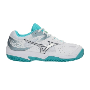 Women`s Tennis Shoes Mizuno Break Shot 2 Clay Court  White/Silver 61GC192603