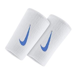 Tennis Head and Wristbands Nike Premier DoubleWide Wristbands  White/Blue N.NN.51.188.OS