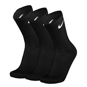 Tennis Socks Nike Everyday Lightweight Crew x 3 Socks  Black/White SX7676010