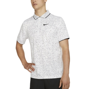 Polo Tennis Uomo Nike Court DriFIT Graphic Polo  White/Black AT4148100