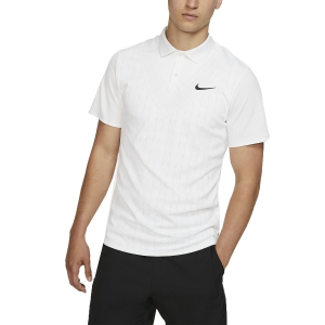 Polo Tennis Uomo Nike Court Advantage Graphic Polo  White/Black AT4146100