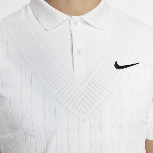 Nike Court Advantage Graphic Polo - White/Black