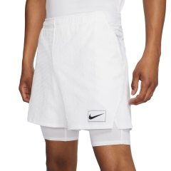 Nike Nike Court Ace 2 in 1 7in Shorts  White/Black  White/Black AV4906100
