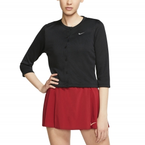 Women's Tennis Shirts and Hoodies Nike Court Cardigan  Black/White AT5142010