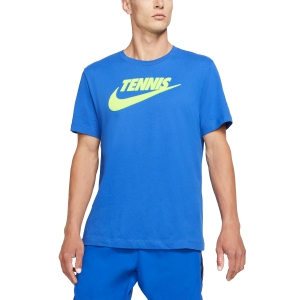 Men's Tennis Shirts Nike Court DriFIT TShirt  Game Royal/Volt CJ0429480
