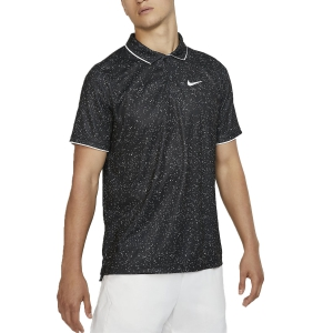 Polo Tennis Uomo Nike Court DriFIT Graphic Polo  Black/White AT4148010