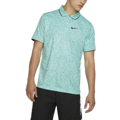Nike Nike Court DriFIT Graphic Polo  Light Aqua/Black  Light Aqua/Black AT4148434