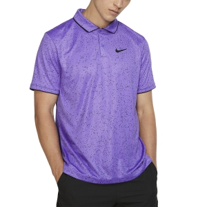 Polo Tennis Uomo Nike Court DriFIT Graphic Polo  Psychic Purple/Black AT4148550