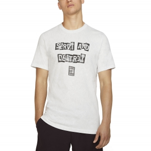 Camisetas de Tenis Hombre Nike Court Graphic Camiseta  White BV7014100