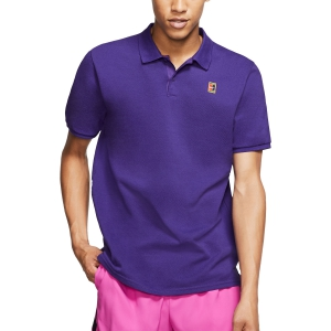 Polo Tennis Uomo Nike Court Heritage Polo  Court Purple/White 934656547