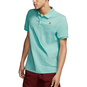 Polo Tennis Uomo Nike Court Heritage Polo  Light Aqua/White 934656434