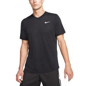 Men's Tennis Shirts Nike DriFIT Challenger TShirt  Black/White BV0766010