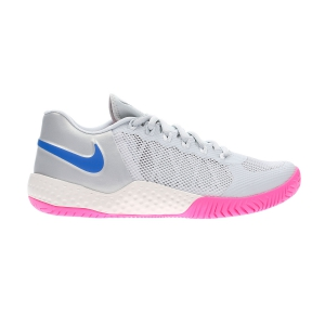 Women`s Tennis Shoes Nike Flare 2 HC  Pure Platinum/Racer Blue/Metallic Platinum AV4713003