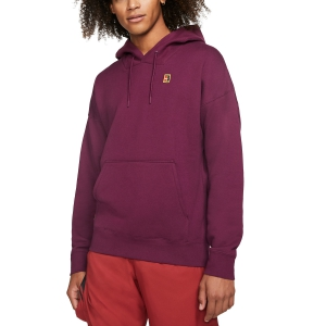 Men's Tennis Shirts and Hoodies Nike Fleece Heritage Hoodie  Bordeaux BV0760609