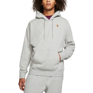 Men's Tennis Shirts and Hoodies Nike Fleece Heritage Hoodie  Dark Grey Heather BV0760063