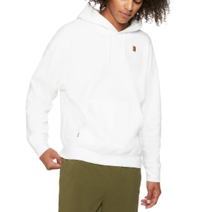 Men's Tennis Shirts and Hoodies Nike Fleece Heritage Hoodie  White BV0760100